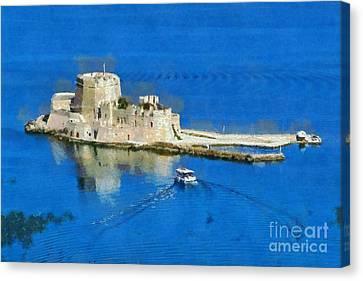 Bourtzi Fortress Canvas Print by George Atsametakis