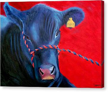 Bovine Intervention Canvas Print by Lisa Lea Bemish