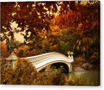 Bow Bridge Fall Fantasy Canvas Print by Jessica Jenney