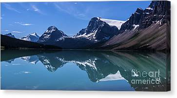 Bow Lake Reflecting Canvas Print by Scotts Scapes