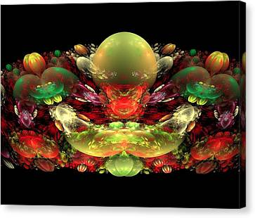 Bowl Of Fruit Canvas Print by Bruce Nutting