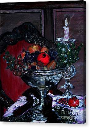 Bowl Of Holiday Passion Canvas Print by Helena Bebirian