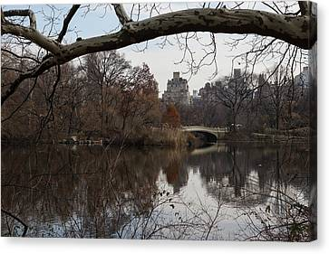 Bows And Arches - New York City Central Park Canvas Print by Georgia Mizuleva
