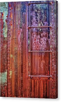 Boxcar Ladder Canvas Print by Marcia Colelli