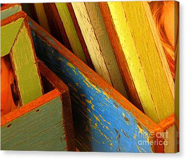 Boxed Memories Canvas Print by Ranjini Kandasamy