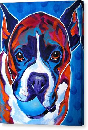Boxer - Atticus Canvas Print by Alicia VanNoy Call