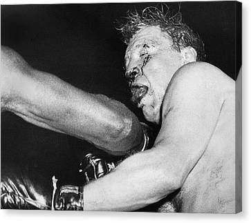 Boxer Near His Limit Canvas Print by Underwood Archives