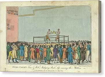 Boxing Canvas Print by British Library