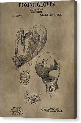 Boxing Gloves Patent Canvas Print by Dan Sproul