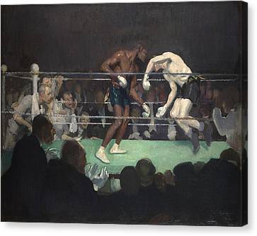 Boxing Match, 1910 Canvas Print by George Luks