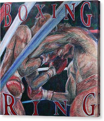 Boxing Ring Canvas Print by Kate Fortin