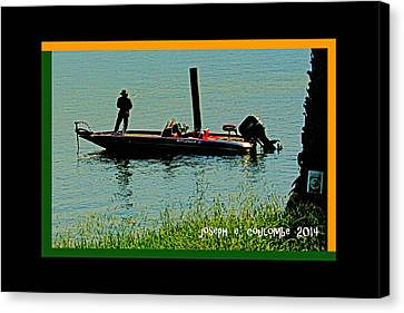 Boy Water Toys Canvas Print by Joseph Coulombe