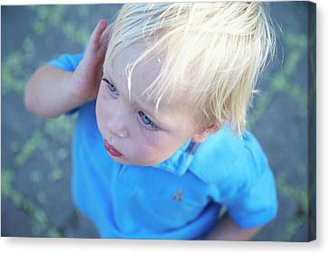 Boy With Blonde Hair Canvas Print by Ruth Jenkinson