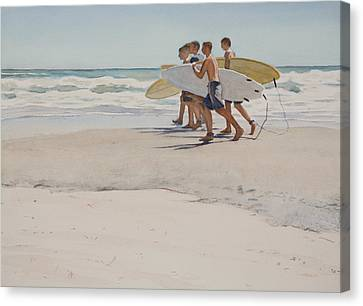 Boys Of Summer Canvas Print by Christopher Reid