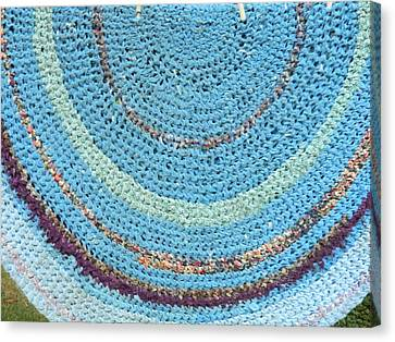 Braided Blues Canvas Print by Michele Coe