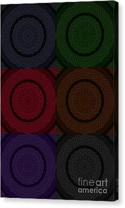 Braided Rug Tapestry Canvas Print by Elizabeth S Zulauf