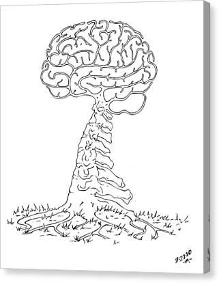 Brain Tree Canvas Print by Robert May
