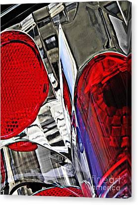 Brake Light 35 Canvas Print by Sarah Loft