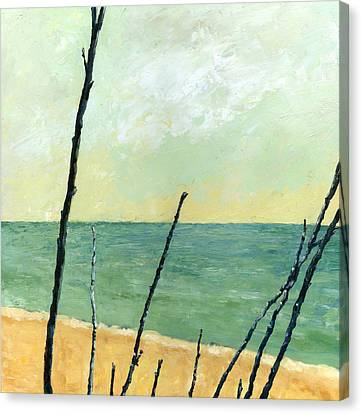 Branches On The Beach - Oil Canvas Print by Michelle Calkins