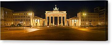 Brandenburg Gate Panoramic Canvas Print by Melanie Viola