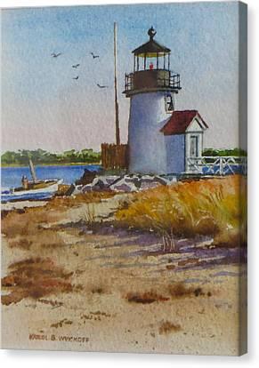 Brant Point Light Nantucket Canvas Print by Karol Wyckoff