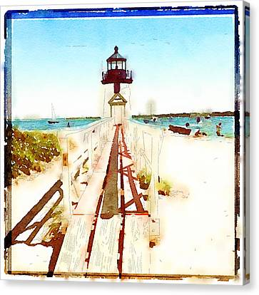 Brant Point Painted Canvas Print by Natasha Marco
