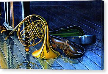 Brass And Strings Canvas Print by Hanne Lore Koehler