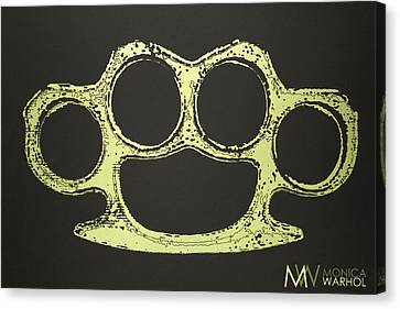 Brass Knuckles Canvas Print by Monica Warhol