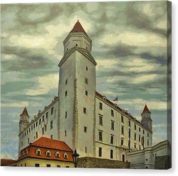 Bratislava Castle Canvas Print by Jeff Kolker