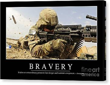 Bravery Inspirational Quote Canvas Print by Stocktrek Images