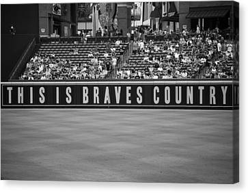 Braves Country Canvas Print by Sara Jackson