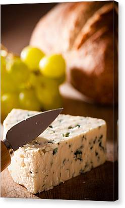 Bread And Cheese With Grapes Canvas Print by Amanda And Christopher Elwell