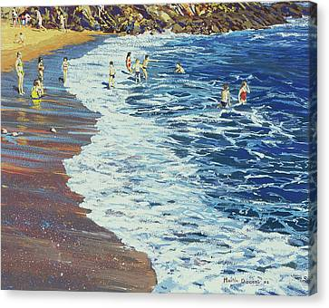 Breakers Canvas Print by Martin Decent