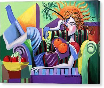 Breakfast At Tiffanie's  Canvas Print by Anthony Falbo