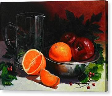 Breakfast Fruits Canvas Print by Ningning Li