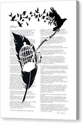 Breaking Free Canvas Print by Sassan Filsoof
