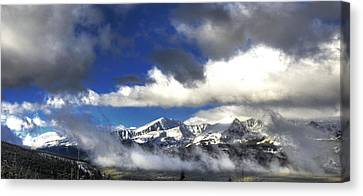 Breckenridge In The Clouds Canvas Print by Paul Beckelheimer