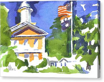 Breezy Morning At The Courthouse Canvas Print by Kip DeVore