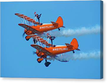 Breiting Wingwalkers Canvas Print by Mark Williamson