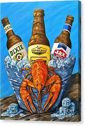 Brew Bug Canvas Print by JoAnn Wheeler