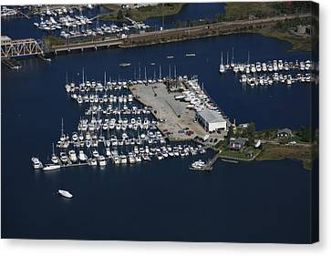 Brewer Yacht Yard, Mystic Canvas Print by Dave Cleaveland