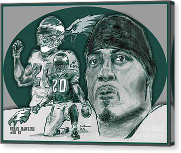 Brian Dawkins Bdawk Canvas Print by Chris  DelVecchio