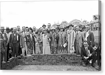 Brick Ceremony At Ppie Canvas Print by Underwood Archives