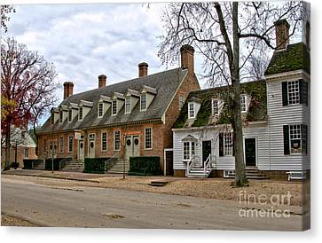 Brick House Tavern In Williamsburg Canvas Print by Olivier Le Queinec