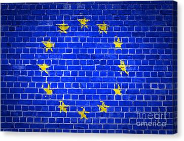 Brick Wall European Union Canvas Print by Antony McAulay