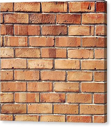 Brick Wall Canvas Print by Les Cunliffe