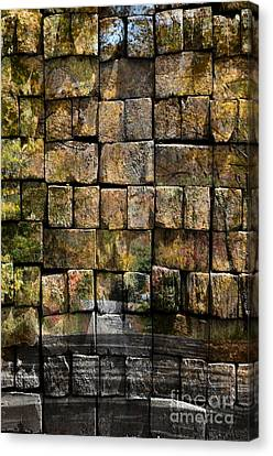 Brick Wall Of Fall Canvas Print by Kathleen Struckle