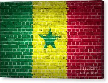 Brick Wall Senegal Canvas Print by Antony McAulay