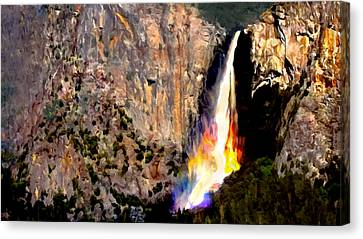 Bridalvail Falls Yosemite National Park Canvas Print by Bob and Nadine Johnston