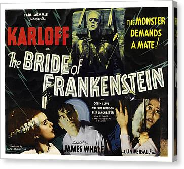 Bride Of Frankenstein Lobby Poster 1935 Canvas Print by Daniel Hagerman